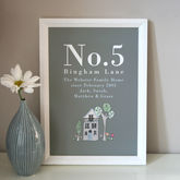 Personalised Family Home Print - home