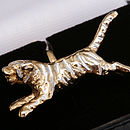 Gold And Silver Tiger Cufflinks