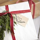Hand Stamped Joyeux Noel Gift Tags