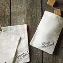 Three Hand Stamped 'Made With Love' Gift Bags