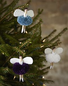 Handmade Peg Doll Fairy - tree decorations