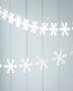 Paper Snowflake Garland - outdoor decorations