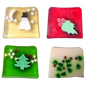 Set Of Four Christmas Soaps - christmas home accessories