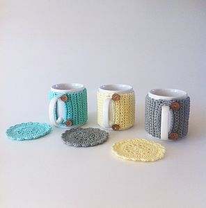 Mug With Organic Cotton Cosy And Coaster - shop by price