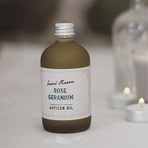 Rose Geranium Artisan Oil - bathroom