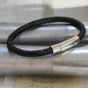 Mens Modern Leather Bracelet - bracelets