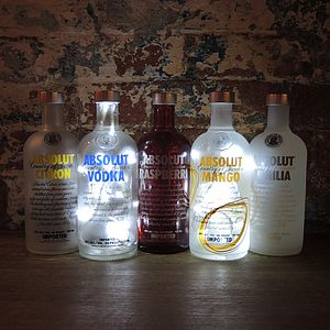 Upcycled Absolut Vodka Bottle Lamps - table & floor lamps