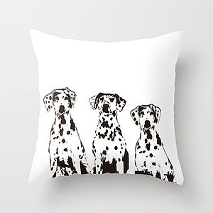 Dalmatian Dogs Cushion Cover - soft furnishings & accessories