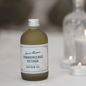 Frankincense And Vetiver Artisan Oil - massage & aromatherapy