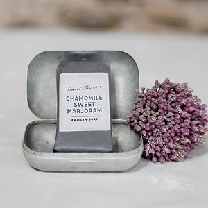 Chamomile And Sweet Marjoram Artisan Soap - bathroom