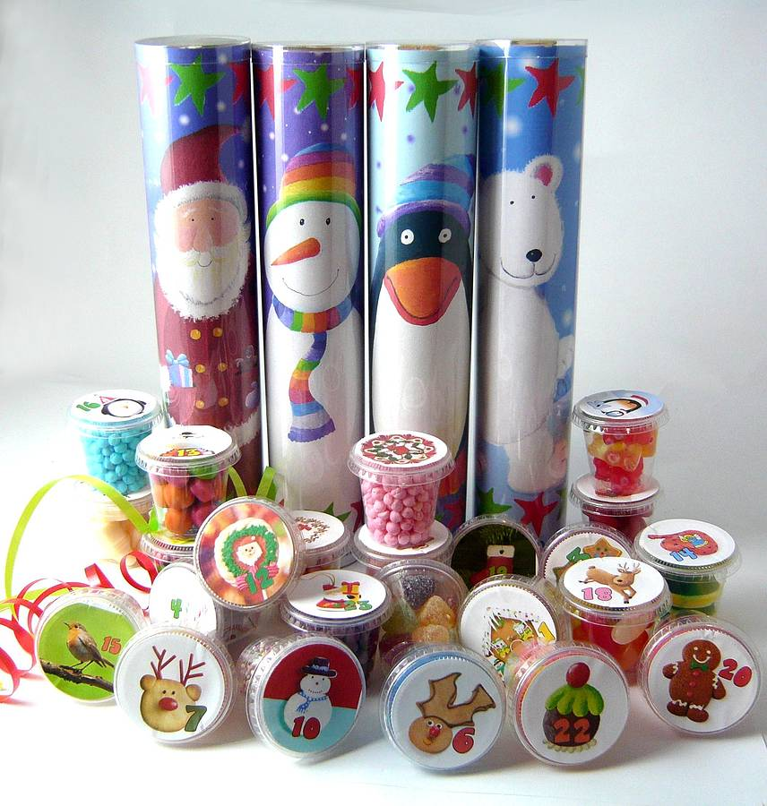 Lots Of Pots Of Sweets Santa Advent Calendar By Chocolate