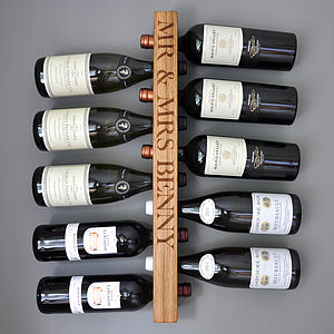 Solid Oak Wine Rack - drink & barware