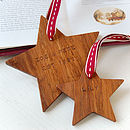 Family Set Of Personalised Star Decorations