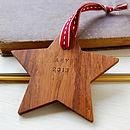 Personalised Wooden Star Keepsake Decoration