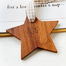 Personalised Wooden Star Keepsake Decoration