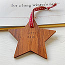 Personalised First Christmas Star Decoration