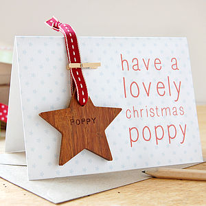 Personalised Christmas Star Keepsake Card