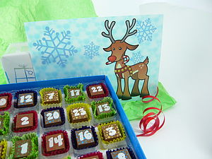 3 D Chocolate Reindeer Advent Calendar - advent calendars