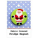 ''Santa'' Christmas Stocking Filler Fridge Magnet