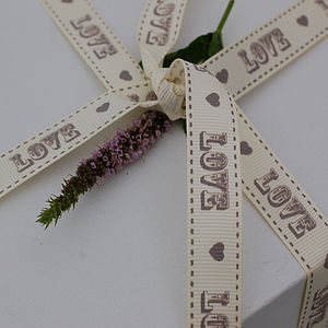 25m Roll Of Love Grosgrain Ribbon - ribbon, twine & tape