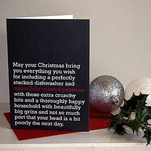 'Splendidly Roasted Potatoes' Christmas Card - shop by category
