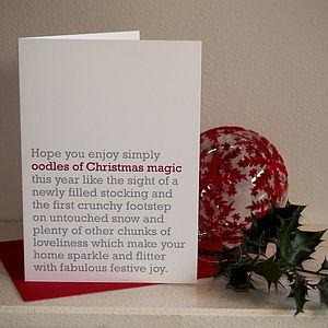 'Oodles Of Christmas Magic' Christmas Card
