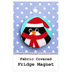 ''Penguin'' Christmas Stocking Filler Fridge Magnet - kitchen