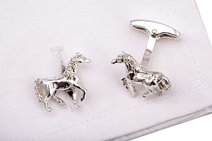 Sterling Silver Horse Cufflinks - gifts £75 and over