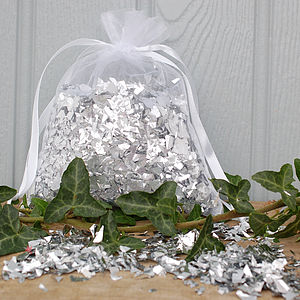Bag Of Silver Confetti - occasional supplies
