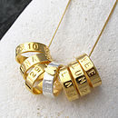 18Ct Gold Plated Personalised Hoop Necklace