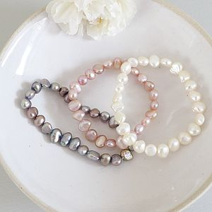 Girl's Freshwater Pearl Bracelet - wedding fashion
