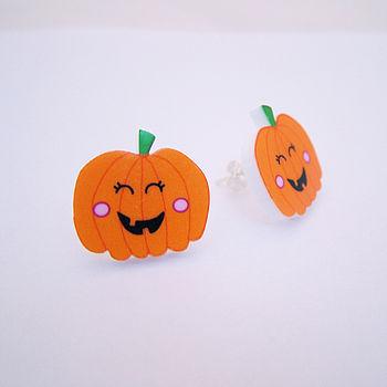 Halloween Pumpkin Novelty Earrings