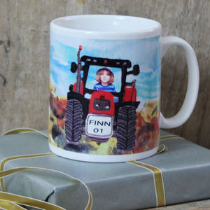 Personalised Tractor Mug - tableware