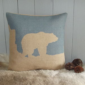 Arctic Polar Bear Cushion