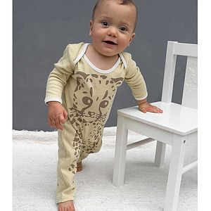 Little Cheetah Sleep Suit - babygrows