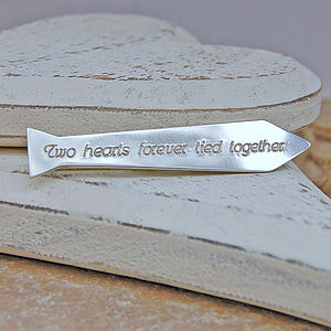 Personalised Silver Tie Shaped Tie Slide - men's jewellery