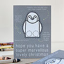 Penguin Finger Puppet Christmas Card