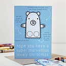 Polar Bear Finger Puppet Christmas Card