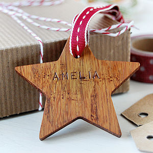 Personalised Wooden Star Keepsake Tag - finishing touches
