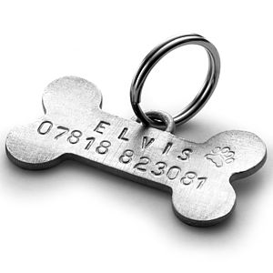 Personalised Bone Pet Tag - dogs