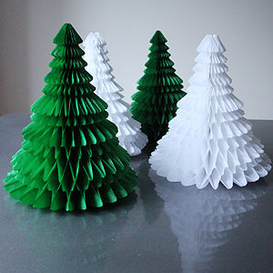 Paper Tabletop Christmas Tree Decorations - table decorations