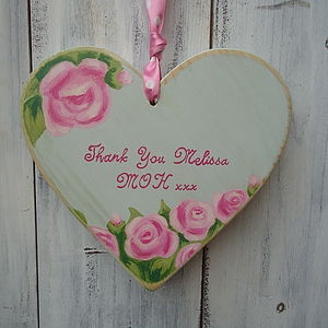 Personalised Antique Rose Wedding Heart - home sale