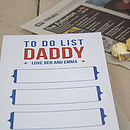 Personalised Daddy's To Do List Notepad