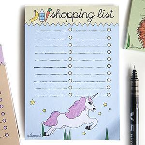 Magical Unicorn Magnetic Shopping List Pad