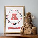 Personalised Children's Initial/Name Print