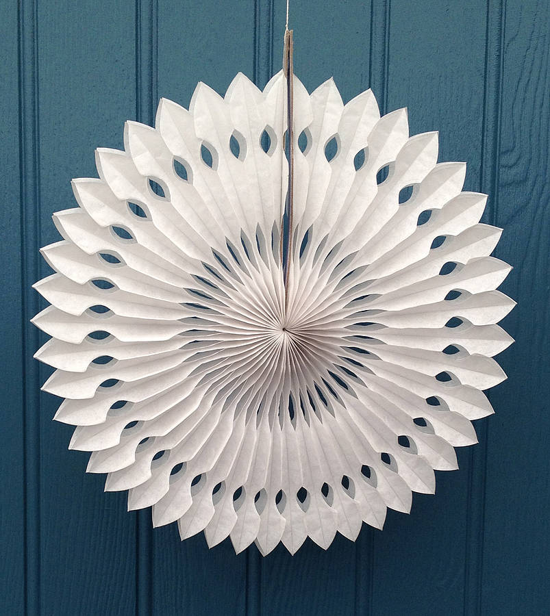 snowflake paper decoration arrow design by petra boase ...