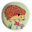 Happy Hedgehog Pocket Mirror
