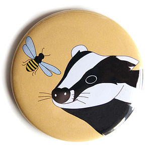 Badger And Bee Pocket Mirror - beauty & pampering