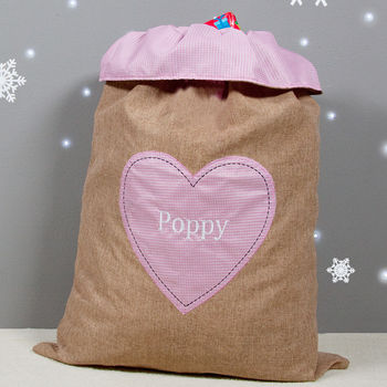 Girl's Hessian Gift Sack