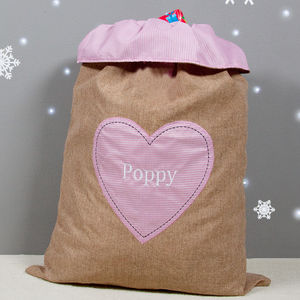Girl's Hessian Gift Sack - stockings & sacks
